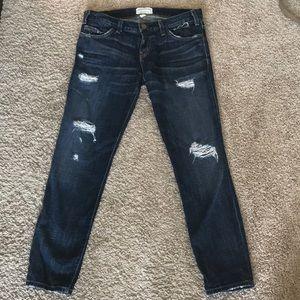Current Elliot Jeans, boyfriend skinny fit crop